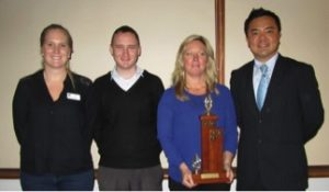 Jeanette Wins John Barton public speaking trophy
