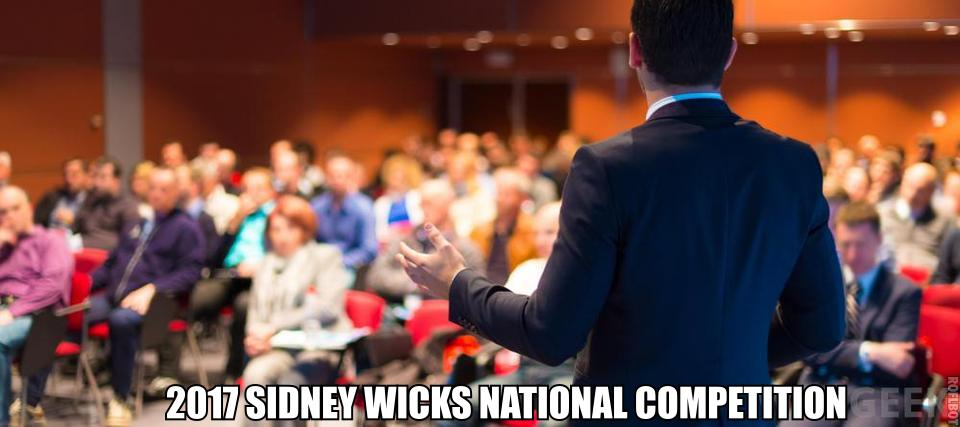 2017 SIDNEY WICKS NATIONAL COMPETITION: